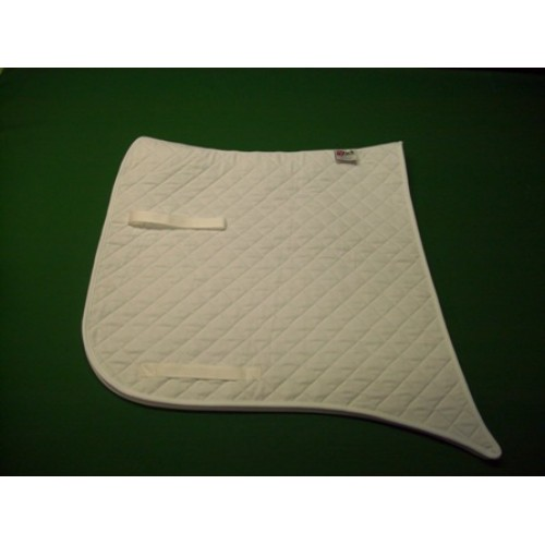 White Dressage Military fishtail Saddlecloth made by Nytack Equestrian-500×500